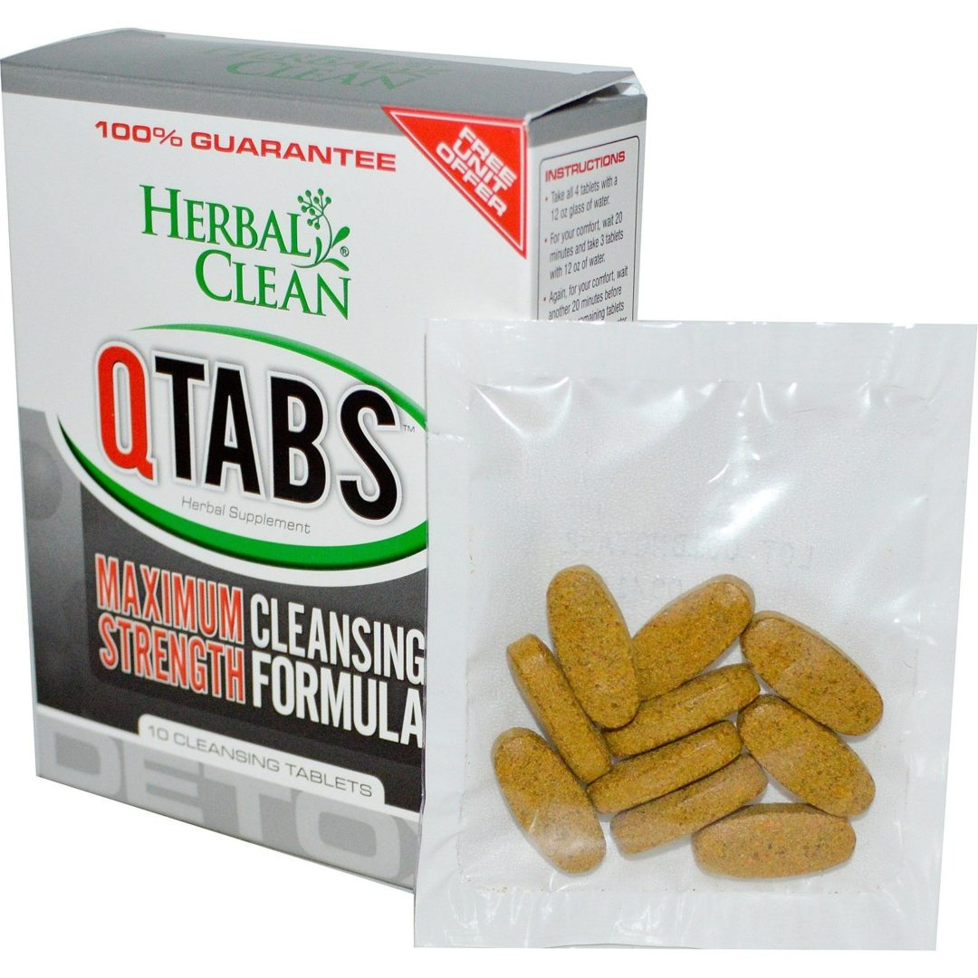 Herbal Clean QTabs Maximum Strength Cleansing Formula, 10xTablets