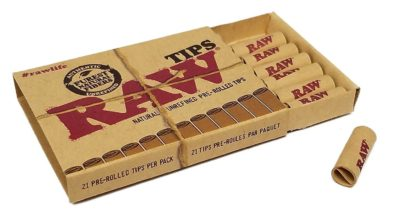 RAW Pre-Rolled Tips 21 Per Box
