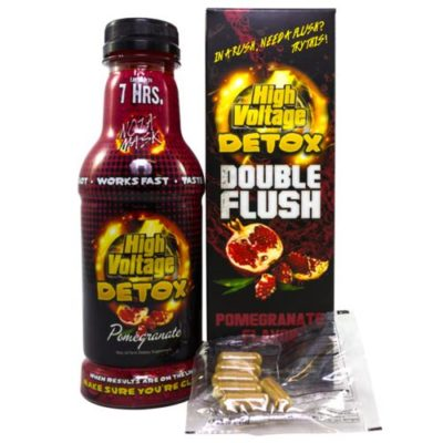 High Voltage Detox Double Flush 16oz Liquid & Capsules Combo