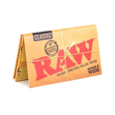 Raw Classic Single wide paper 100 Leaves