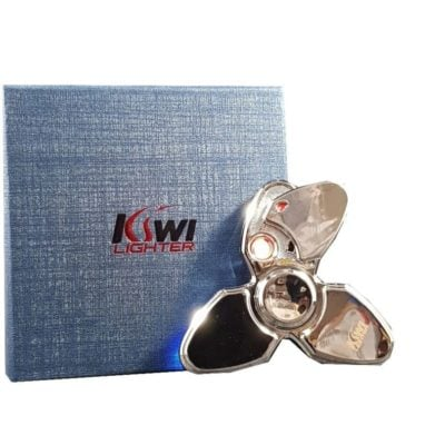 Metal Hand Fidget Spinner Electric Lighter By Kiwi Lighter