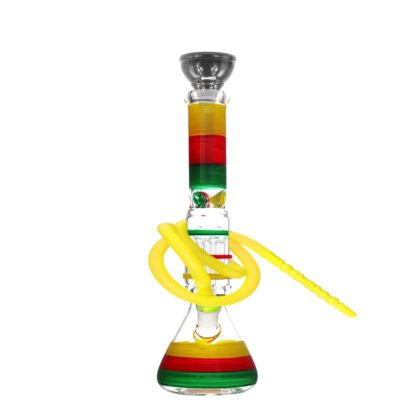Triple Colours Tree Percolator Beaker Base Glass Shisha Pipe 30cm