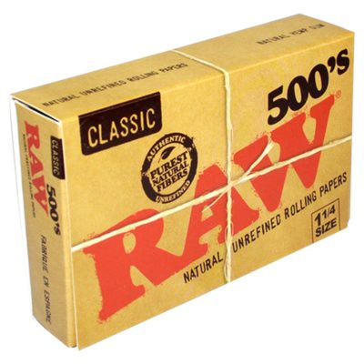 RAW Classic 500 Series 1 1/4 Rolling Paper