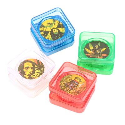 Herb Grinders - Acrylic Coloured Herbal Grinder With Photo 2xParts
