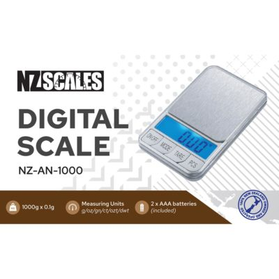 Digital Scales - NZ Pocket Scale for herb NZ-AN-1000 1000 x 0.1g