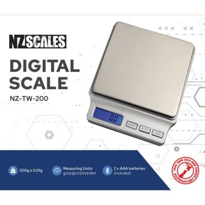 Digital Scales - NZ Pocket Scale for herb NZ-TW-200 200 x 0.01g