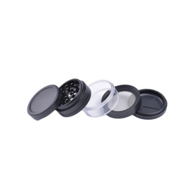 Herbal Grinders - NBT Aluminum Herb Grinder With Glass 63mm 4xParts