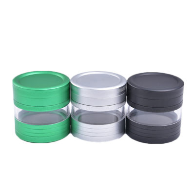 Herb Metal Grinders - NBT Aluminum Herb Grinder With Glass 63mm 4xParts