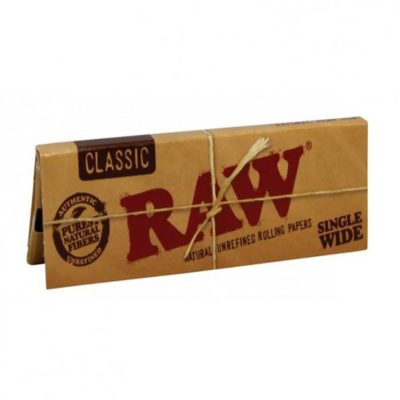 RAW Smoking Papers - RAW Classic Connoisseur Single Wide Papers + Tips