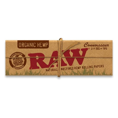 RAW Smoking Papers - RAW Organic Artesano 1 1/4 Paper + Tip