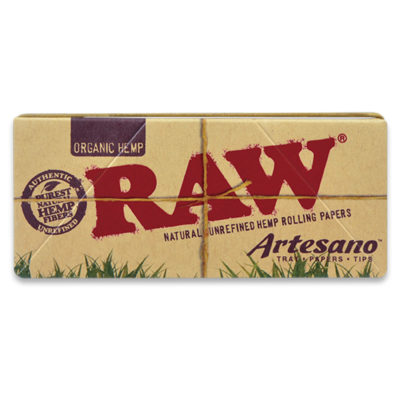 RAW Smoking Papers - RAW Organic Artesano King Size With Papers + Tips