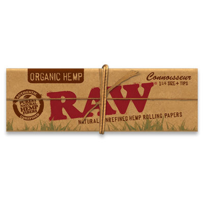 RAW Smoking Papers - RAW Organic Connoisseur 1 1/4 Paper & Tip