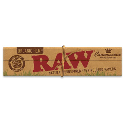 RAW Smoking Papers - RAW Organic Connoisseur Kingsize Slim & Tip