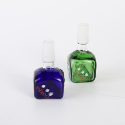 Water Pipe Accessories - 14mm Male Dokha Glass Dice Shape Drop Cone