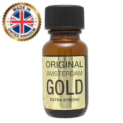 Poppers NZ - Amsterdam Gold Extra Strong Aroma Amyl Nitrate UK 25ml