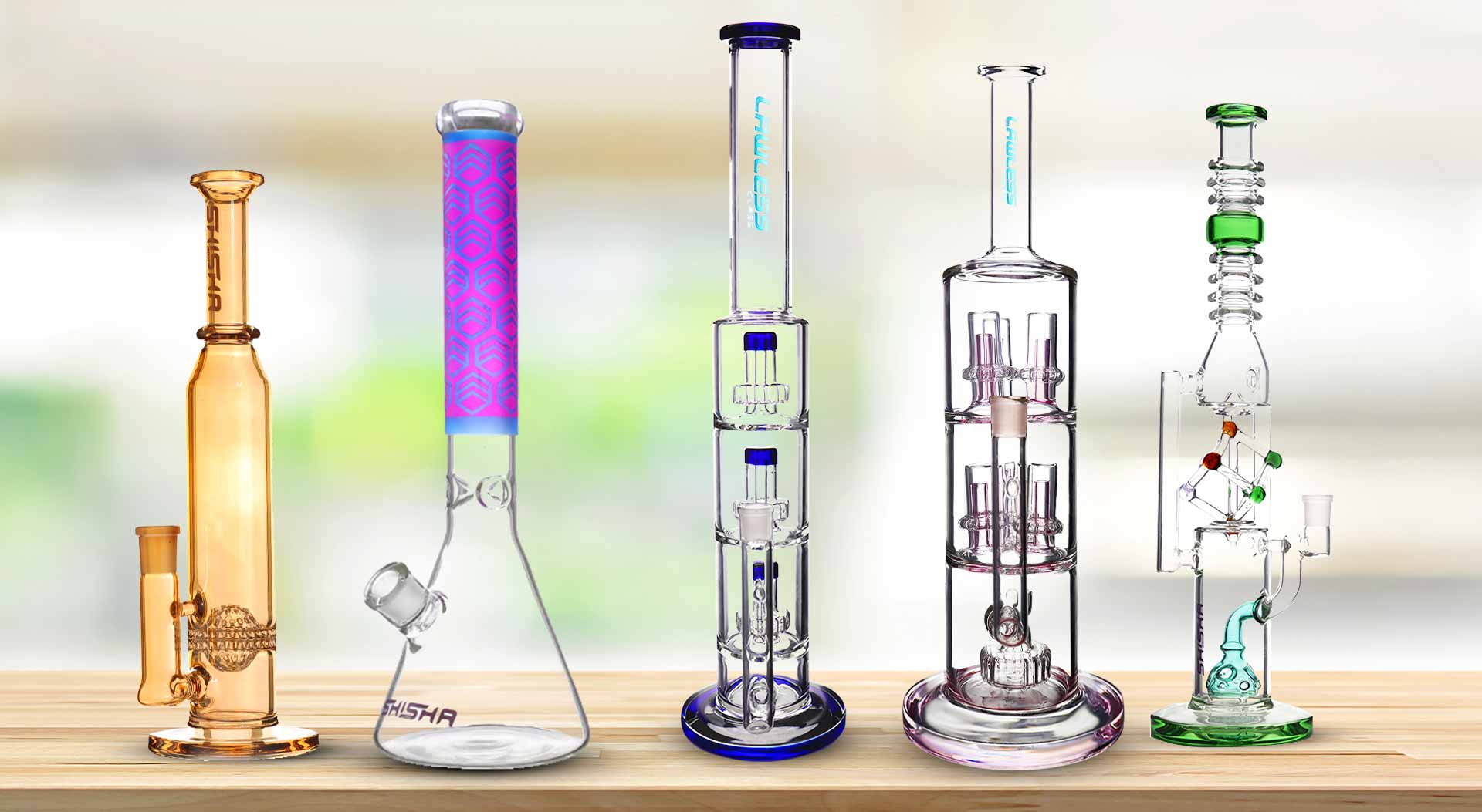 Pictures of High-Quality Bongs in Shisha Glass NZ