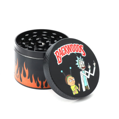 Metal Herb Grinders - NBT Metal Grinder For Herb With Rick and Morty Theme 55mm 4xParts Front